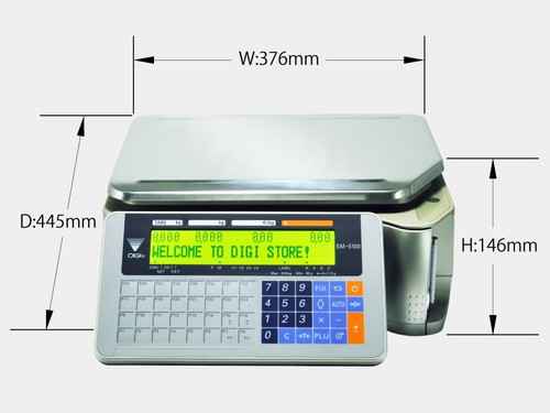 DIGI SM-5100 Label Printer Scale - Bench