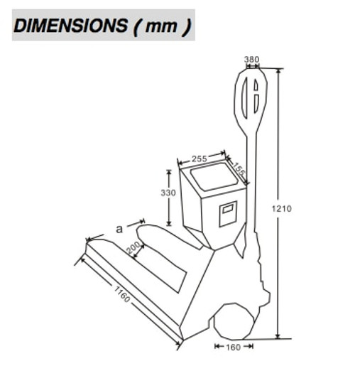 TPS-1 Pallet Truck Platform Scale