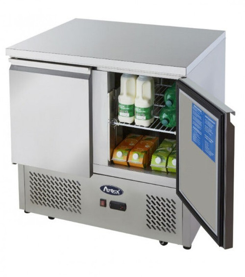Atosa ESL3801 Stainless Steel 2 Door Refrigerated Counter
