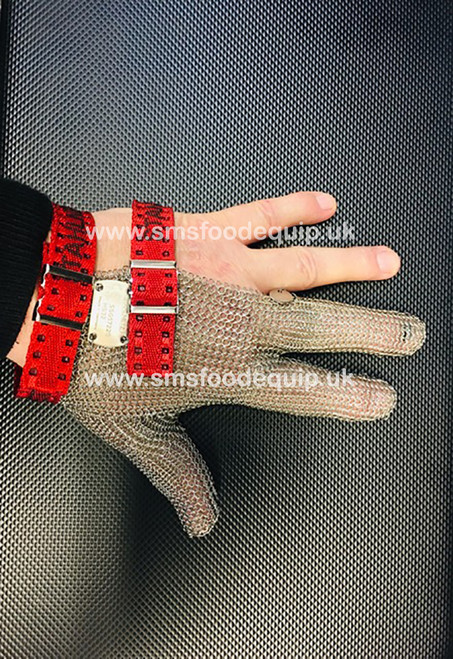 Three Finger Quality Butchers Safety Glove