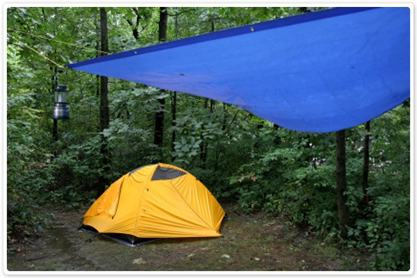 Uses for Tarps - Camping 1