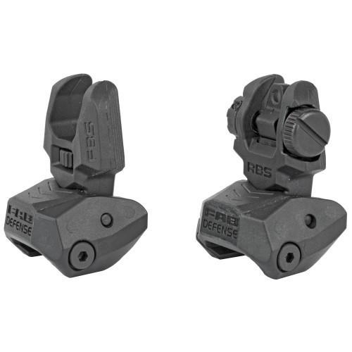 FAB Defense Front and Rear Flip-Up Sight Set - Black