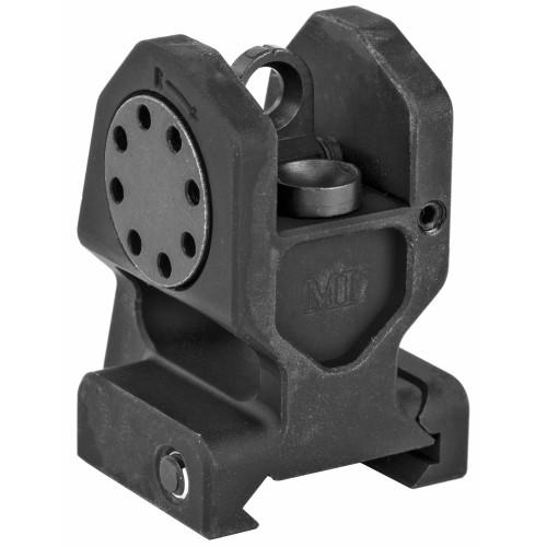 Combat Rifle Rear Sight, Mil-Spec Height, Standard A2 Rear Sight Aperture, 6061 Aluminum, Black Finish
