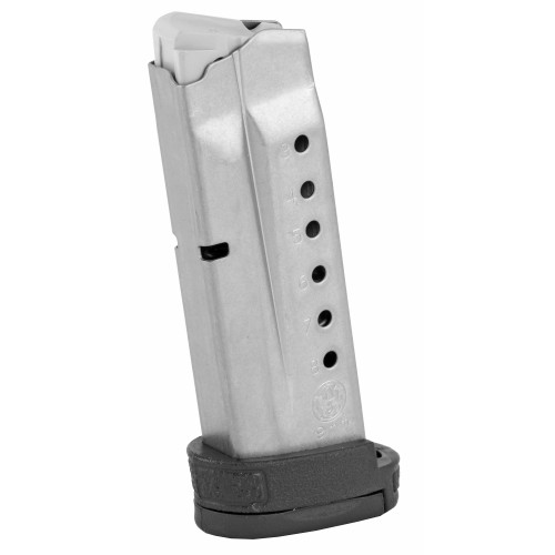 Smith & Wesson, Magazine, 9MM, 8Rd, Fits M&P SHIELD, Finger Rest, Stainless Finish