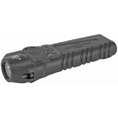 Surefire, STILETTO, Flashlight, High 1,000 Lumens, Medium 300 Lumens, Low 25 Lumens, Tactical Switch with Optional Strobe, Programmable, Black Mil-Spec Hard Anodized Aluminum Body, Black Melonite Coated Pocket Clip