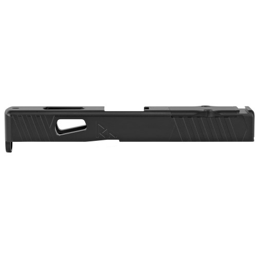 Rival Arms, Match Grade Upgrade Slide For Glock 19 Gen 3, RMR Cut Ready, Front and Rear Serrations, Satin Black Quench-Polish-Quench (QPQ) Finish