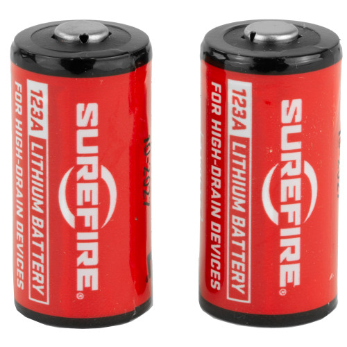 Surefire, Battery, CR123A Lithium, 2 Pack, Red