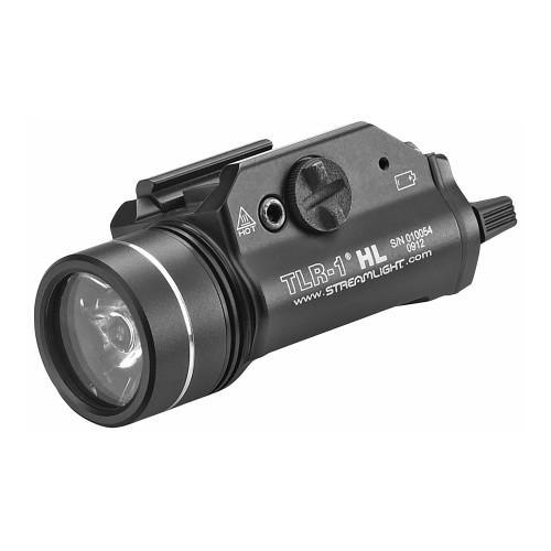 Streamlight, TLR-1 HL, High Lumen Rail Mounted Tactical Light, C4 LED, 1000 Lumens, Strobe, Black, 2x CR123 Batteries