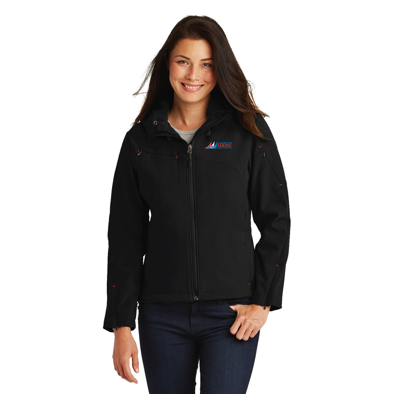 0b19a0a10 American Sailing Association Women's Waterproof Hooded Soft Shell Jacket -  Pirates Lair Store