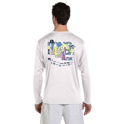 Long Beach Race Week 2016 Men's UPF 50+  Wicking Shirt White (Customizable)