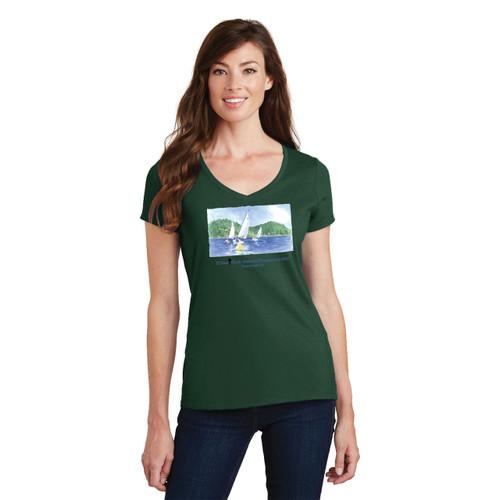 SALE! El Toro North American's 2016 Women's Cotton T-Shirt-Forest Green