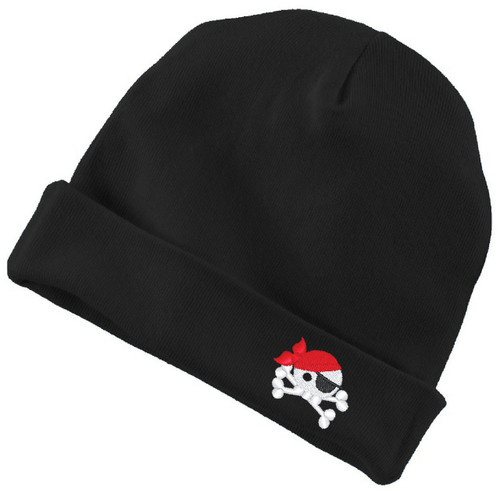 Baby Pirate Infant Baby Rib Cap Black