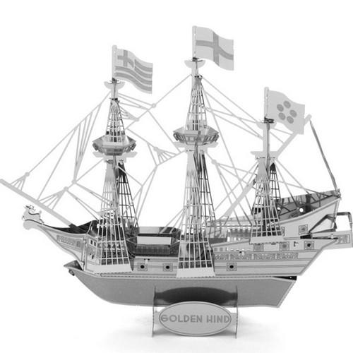 Pirate Ship 3D Laser-Cut Model