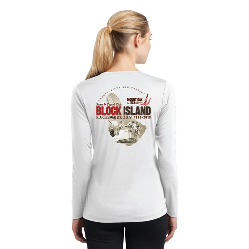 Block Island Race Week 2013 Women's  Wicking Shirt