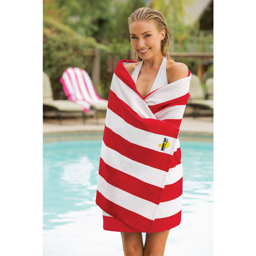 "Mount Gay® Rum Cabana Stripe Beach Towel (35"" x 62"")"