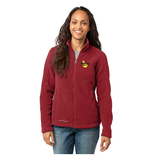 Mount Gay® Rum Women's Full-Zip Fleece Jacket by Eddie Bauer® (Red)