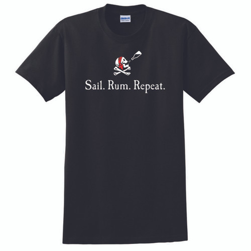 Sail. Rum. Repeat. Men's Cotton T-Shirt