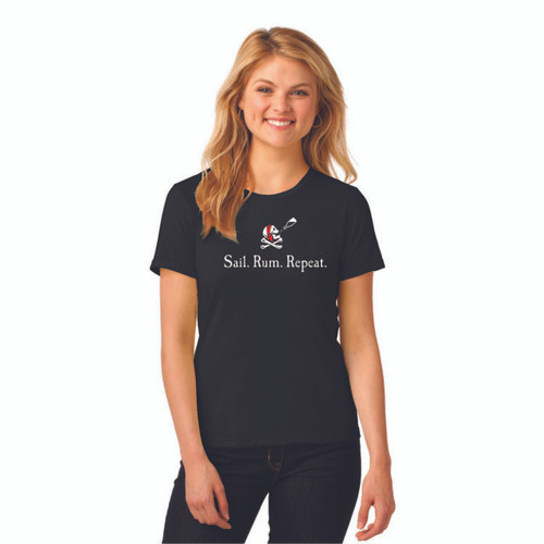 Sail. Rum. Repeat. Women's Ringspun Cotton T-Shirt