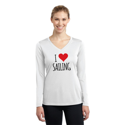 I Love Sailing Women's Wicking Shirt