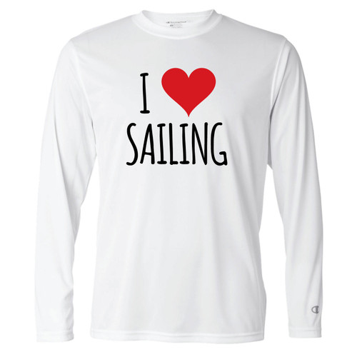 I Love Sailing Men's Wicking Shirt