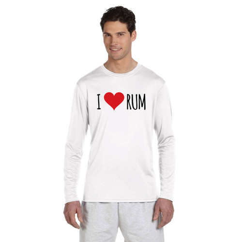 I Love Rum Men's Wicking Shirt