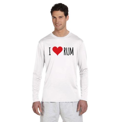 I Love Rum Men's UPF 50+ Wicking Shirt (Customizable)