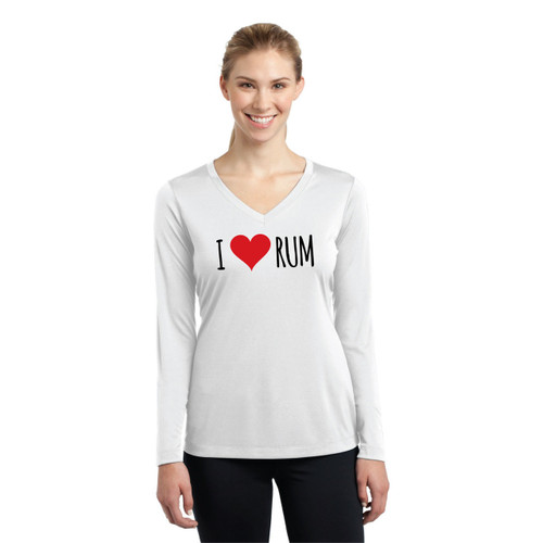 I Love Rum Women's Wicking Shirt