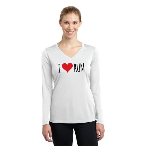 I Love Rum Women's Wicking Shirt (Customizable)
