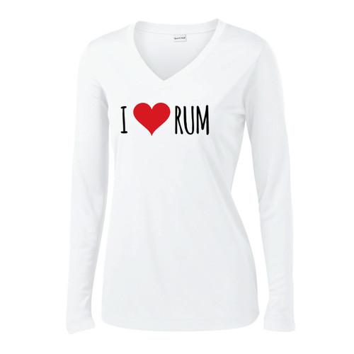 I Love Rum Women's Wicking Shirt