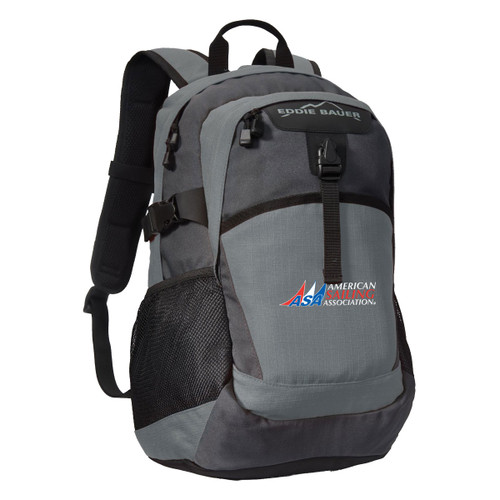 American Sailing Association Ripstop Backpack by Eddie Bauer® Pewter (Customizable)