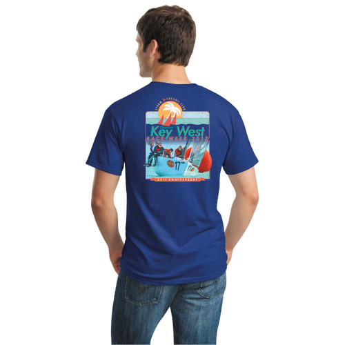 Quantum Key West Race Week 2017 Men's Cotton T-Shirt (Royal)