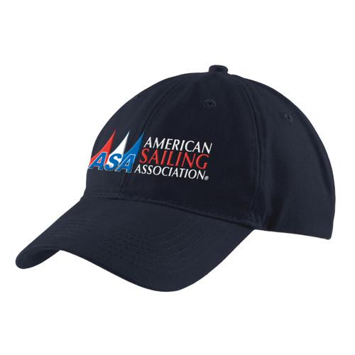 American Sailing Association Cotton Cap Navy (Customizable)