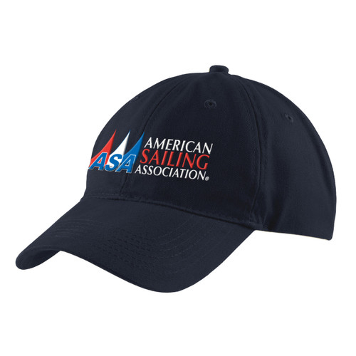 American Sailing Association Cotton Cap Navy (Customizable)