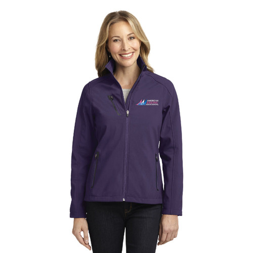 American Sailing Association Waterproof Women's Soft Shell Jacket by Port Authority® (Purple)