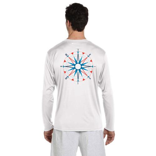 American Sailing Association Compass Rose UPF 50+ Wicking Shirt (White)