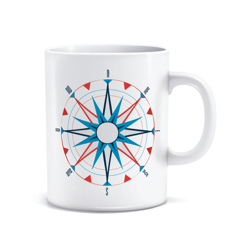 American Sailing Association Compass Rose Coffee Mug