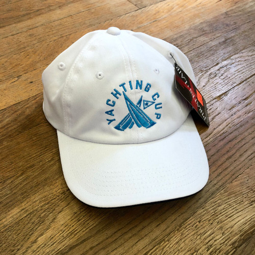 SDYC Yachting Cup Wicking Sailing Cap White/Navy (Customizable)