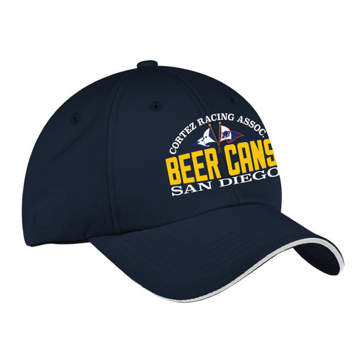CRA Beer Cans San Diego Wicking Sailing Cap Navy (Customizable)