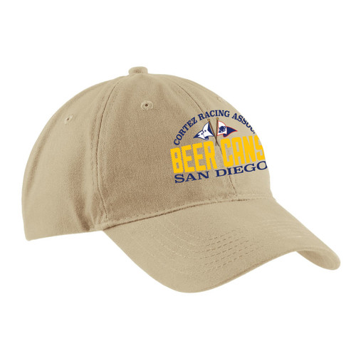 CRA Beer Cans San Diego Cotton Sailing Cap Khaki (Customizable)