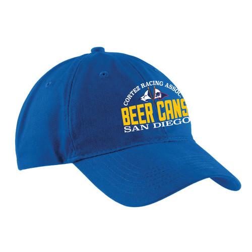 CRA Beer Cans San Diego Cotton Sailing Cap Royal (Customizable)