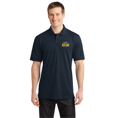 CRA Beer Cans San Diego Men's Wicking Stretch Polo (Customizable)