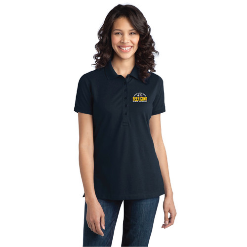 CRA Beer Cans San Diego Women's Wicking Stretch Polo (Customizable)