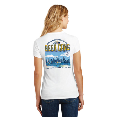 CRA Beer Cans San Diego 2017 Women's Crew Neck Cotton T-Shirt (White)
