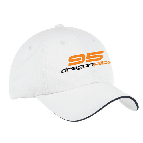 DragonFlite 95 (DF95) Class Wicking Sailing Cap White (Customizable)