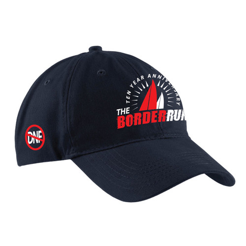 EARLY BIRD SPECIAL! The Border Run 2018 Cotton Sailing Cap Navy (Customizable)