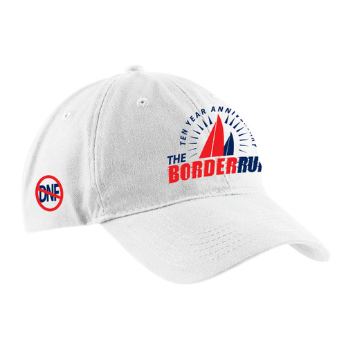 EARLY BIRD SPECIAL! The Border Run 2018  Cotton Sailing Cap White (Customizable)