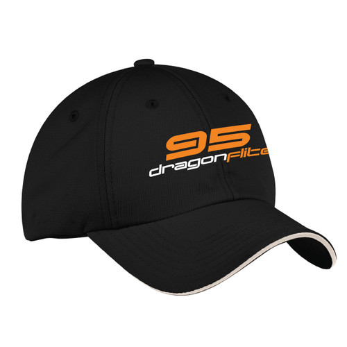 DragonFlite 95 (DF95) Class Wicking Sailing Cap Black (Customizable)