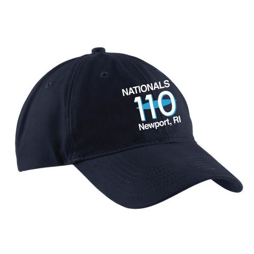 110 Nationals 2017 Cotton Sailing Cap Navy (Customizable)
