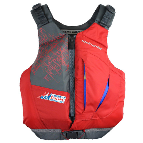 American Sailing Association Adult Life Jacket by Stohlquist (Red)