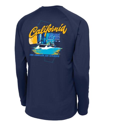 California Offshore Race Week 2017 Navy Wicking Shirt